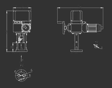 chq电动执行器  接线柱